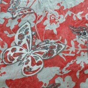 BUTTERFLY SCARF RUST & GRAY